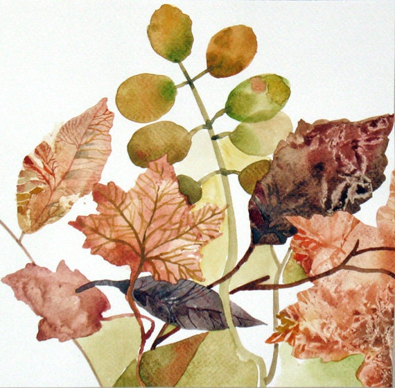 My Leaves Collection - Original Painting - Nature Watercolor 8x8