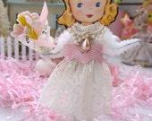 Vintage Inspired SuGaR SwEeT Flower Girl Paper Posy Doll Keepsake