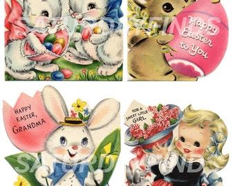 Vintage Greeting Card Easter No. 3 (of 15) Vintage Greeting Cards - Digital Collage Sheet Instant Download