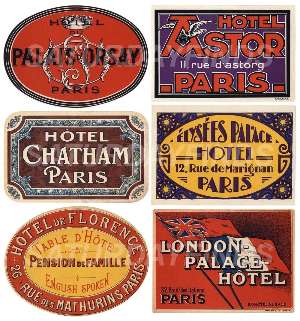 Vintage-Inspired Luggage Travel Labels No. 3 of 3 Digital