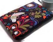 iPad Mini Case, iPad Mini Sleeve, Samsung Galaxy Tab Case, Amazon Fire HD Case, Amazon Fire Kids, Padded Zipper Case, Cute Bird Fabric