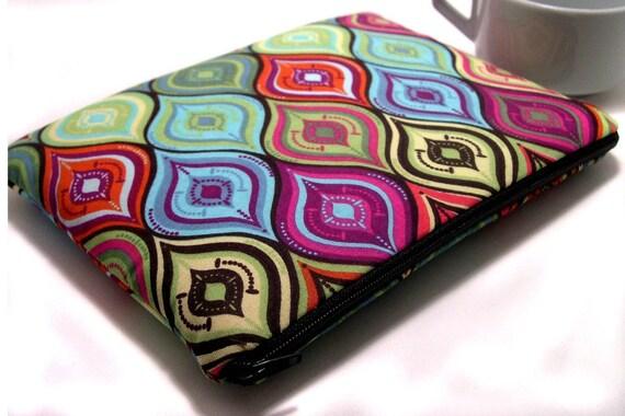 Kindle 1 2 3, Nook, Sony, Kobo, Pandigital Zipper Bag - PADDED with foam inner core - ORNATE