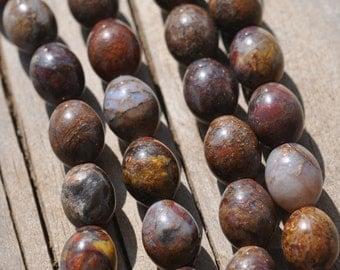 19 Pietersite Oval  10mm Beads  BD766