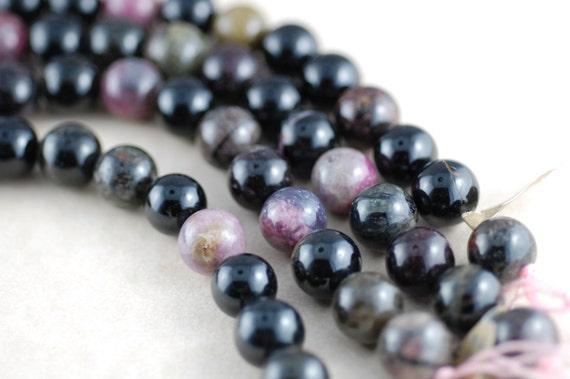 8 Tourmaline 13mm Round Beads BD869