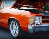 1972 Chevrolet El Camino - Classic Car - Street Car - Chevy - Garage Art - Pop Art - Fine Art Photograph
