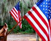 Kickin' Back with Glory - US Flag - Patriotic - Fine Art Photograph