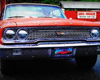 1963 Ford Galaxie - Classic Car - Garage Art - Pop Art - Fine Art Photograph by Kelly Warren