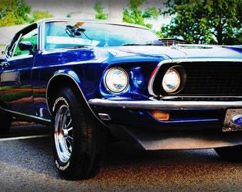 1969 Ford Mustang - Classic Car - Garage Art - Pop Art - Fine Art Photograph by Kelly Warren