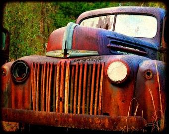 Old Harvey - Rusty Old Truck - Ford - Fine Art Photograph by Kelly Warren