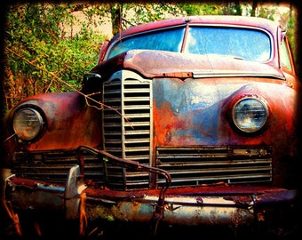 Miss Jenny - Rusty Old Car - Packard - Fine Art Photograph by Kelly Warren