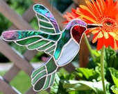 Hummingbird Stained Glass Suncatcher