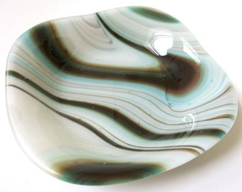 Fused Glass Bowl in Earth Tones