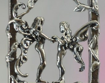 Faerie Friends Pendant in Sterling Silver