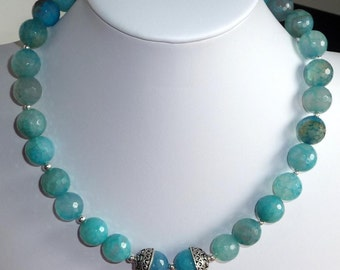 Baby Blue Necklace OOAK