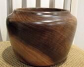 Handturned Figured Myrtle Wood Bowl