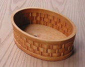 Basket Extra Large Oval with Woven Look Handmade