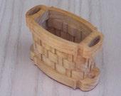 Basket Oval with Side Handles Handmade