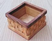 Basket Two Tone Square Handmade
