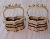 Bride and Groom Heart Baskets Handmade