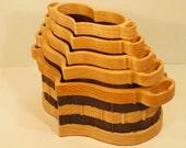 Heart Basket Set of 5 Handmade