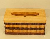 Heart Tissue Box Holder Handmade