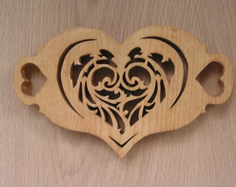 Trivet, Fancy Heart Handmade