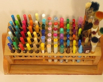 Pen/Pencil/Brush/Marker Organizer Handmade
