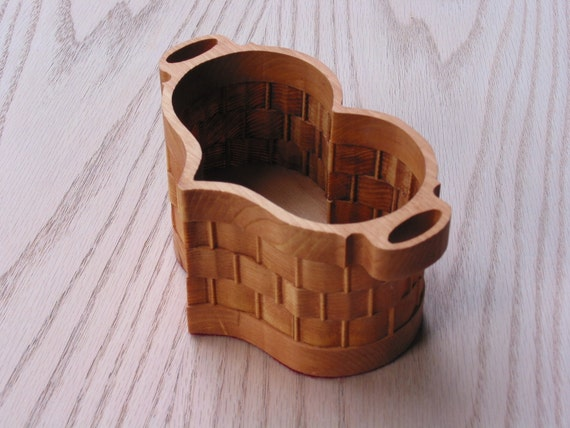 Handmade Heart Basket : Heart basket small handmade