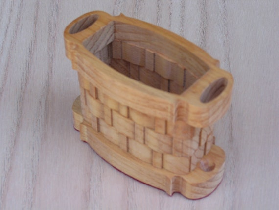 Basket Oval with Side Handles Handmade
