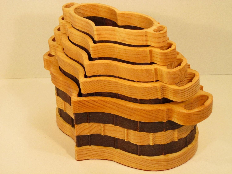 Handmade Heart Basket : Heart basket set of handmade