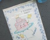 Vintage Pink Cake Birthday Party Invitation Salesman Sample
