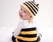 Black and Yellow Bumble Bee Hat