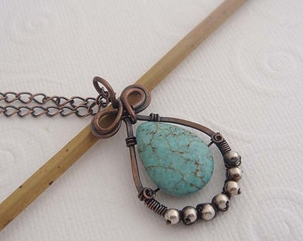Samora wire wrapped copper necklace