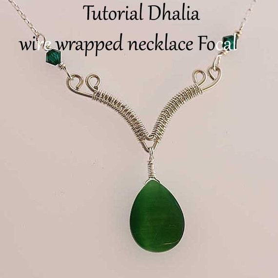 Tutorial Dhalia wire wrapped necklace focal