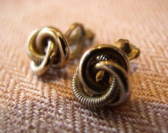 Vintage 1950s Chain Knot Earrings