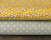 ONE YARD- Yellow and white small floral cotton fabric