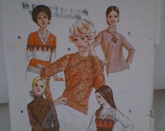 Kwik Sew 505 Vintage Ladies Pullover Designed by Kerstin Martensson 1970s All Sizes