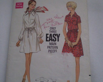 Vintage Dress Pattern Size 10  Butterick 5613