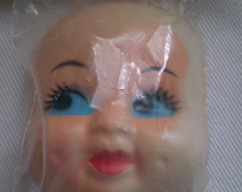 Vintage Old Stock Doll Face With Dimples