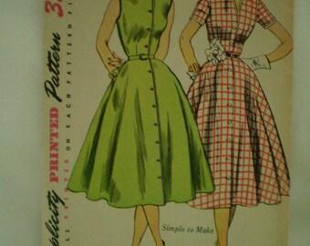 Simplicity 3851 Womens Dress Rockabilly 1950's Size 12