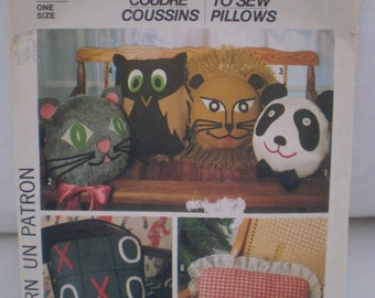 Vintage 1970's Simplicity How to Sew Pillows Pattern 8138