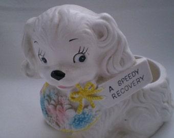Vintage RUBENS Dog Planter