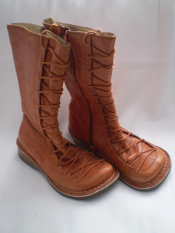 Vintage Moccasin Style Leather Boots