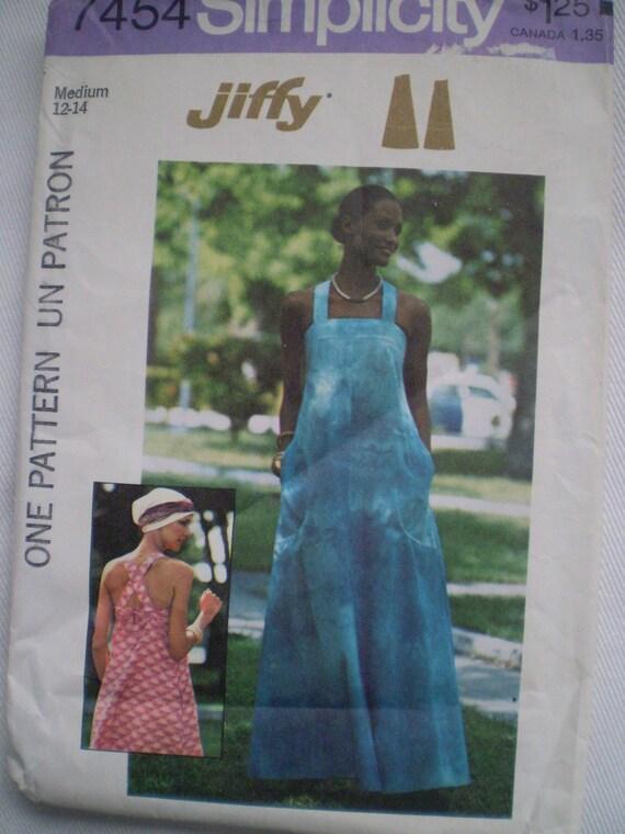 Simplicity 7454 Pullover Dress Sundress Size SMALL Jiffy