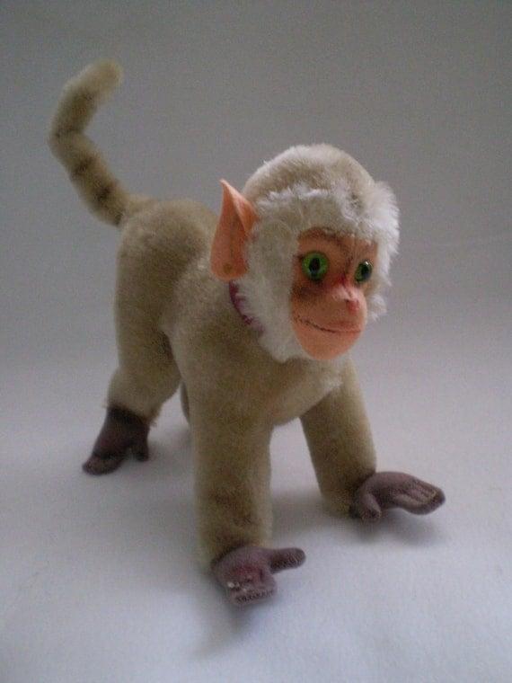 sale vintage steiff mohair baboon coco stuffed animal. Black Bedroom Furniture Sets. Home Design Ideas