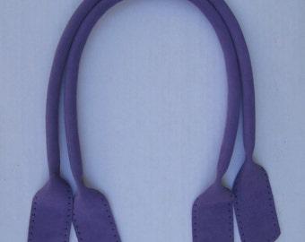 24-inch Purple Suede Tote Handles