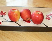 Red Leaves Branch Serving Tray