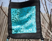 Turquoise Paisley Beaded Crossbody Shoulder Bag