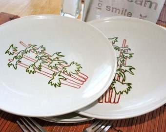 Bamboo Painted Plates