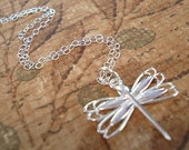 Dragonfly Necklace Tiny Dragonfly Necklace Silver dragonfly Jewelry Everyday Necklace
